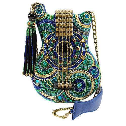 Cross Blue Note Handbag Beaded FRANCES Mosaic Guitar Body MARY wgTpzxqUq