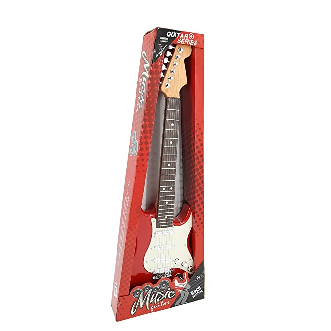Amazon.com: Yamix Kids Guitar, 6 Strings Electric Guitar for Kids Musical Instruments Toy Guitar (Red + White): Toys & Games