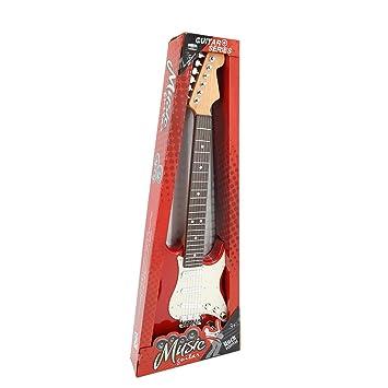 YVSoo Guitarra para Niños, Guitarra eléctrica,Guitarra clásica Instrumentos Musicales Educativos Simulación Juguete Regalo (Rojo + Blanco): Amazon.es: ...