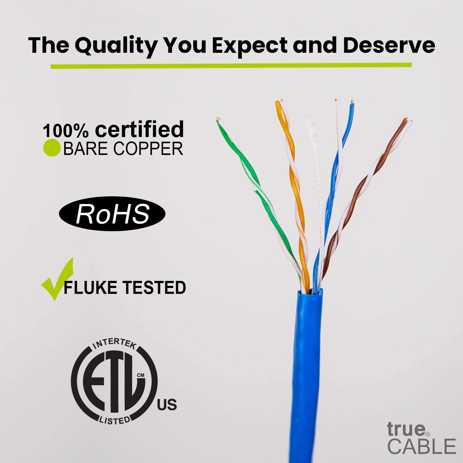 Eagle 1000/' FT CAT5e Cable Red 24 AWG Solid Copper Ethernet Network UL Listed