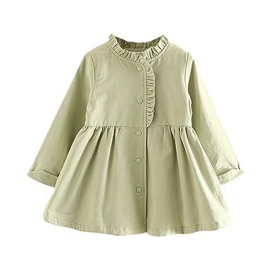 7fa659d3cae7 Amazon.com  SPRMAG Kids Girls Chinese Long Sleeve Turtleneck Pleated ...