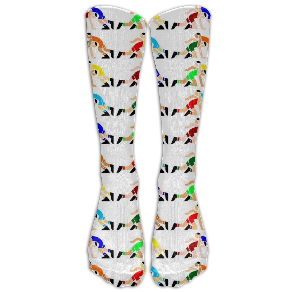 WANGZII Interesting Printing Cotton Wrestling Socks For Unisex