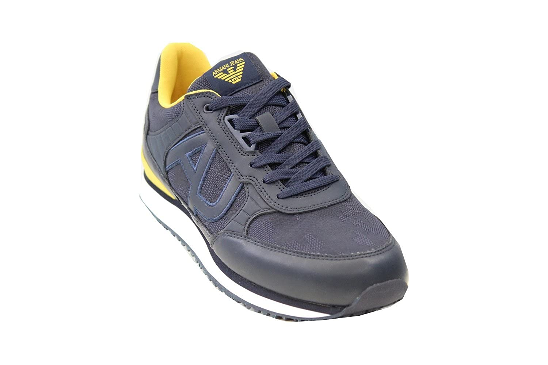 Armani Jeans - Zapatillas de Lona Para Hombre Azul Azul Marino -