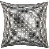 The Pillow Collection Pertessa Geometric Floor Pillow Black White