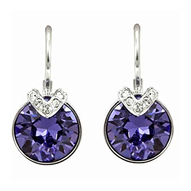 cute cheap uk cheap sale super cheap compares to Swarovski Crystal Violet Bella V Rhodium-Plated Earrings