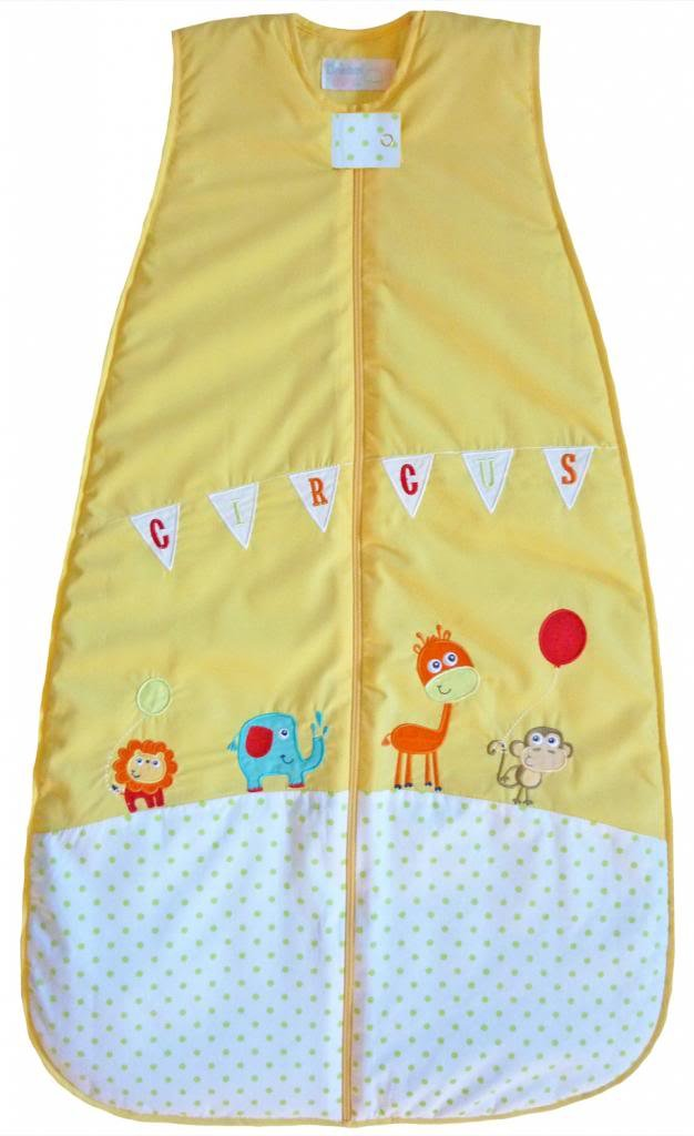 LIMITED TIME OFFER! The Dream Bag Baby Sleeping Bag Circus 100% cotton 18-36 Months 3.5 TOG - Yellow by The Dream Bag   B00LVDTSFI
