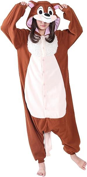 brlmall adultos Anime Unisex ardilla pijama Onesie disfraz de ...