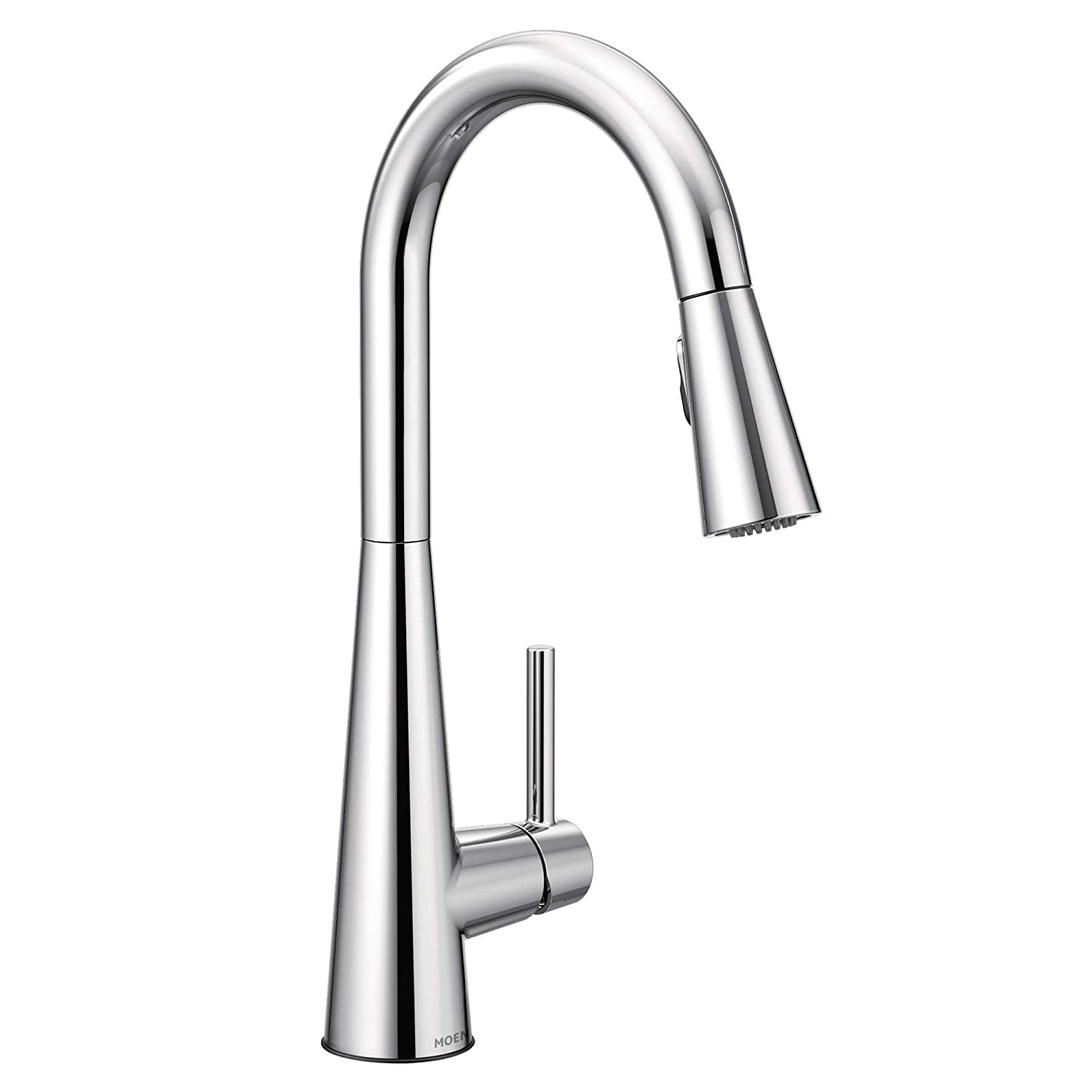 Moen 7864 Sleek One-Handle High Arc Pulldown Kitchen Faucet Featuring Power Clean, Chrome