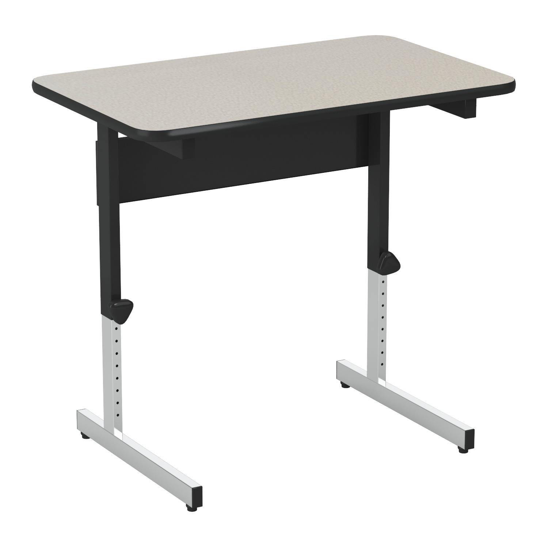 Calico Designs 410381.0 Adapta Table, 36'', Black/Spatter Gray