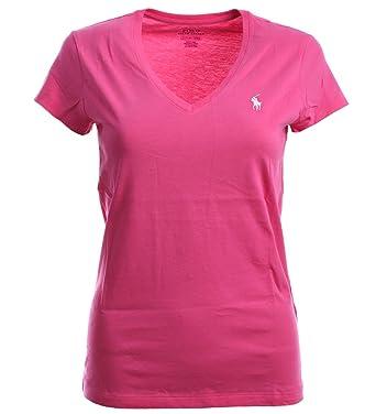 4121a9008 Polo Ralph Lauren Women s Classic Fit V Neck T-Shirt Short Sleeve Shirts (XS
