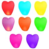 10 Pack Heart Shape Assorted Chinese Flying Sky