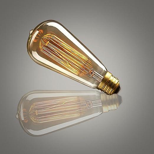 2 × LED Bombilla de Edison edison luz bulbe vintage27 retro LED amarillo cálido lámpara de