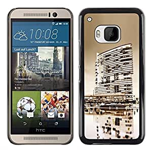 Shell-Star Arte & diseño plástico duro Fundas Cover Cubre Hard Case Cover para HTC One M9 ( Black & White City )