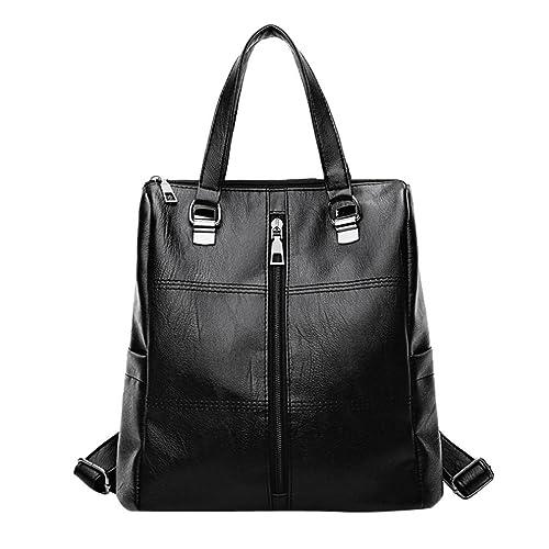 65b06625c ALIKEEY 2018 Vintage ♈ Girl Leather School Bag Mochila Satchel Mujeres  Viaje Bandolera Con Cremallera De