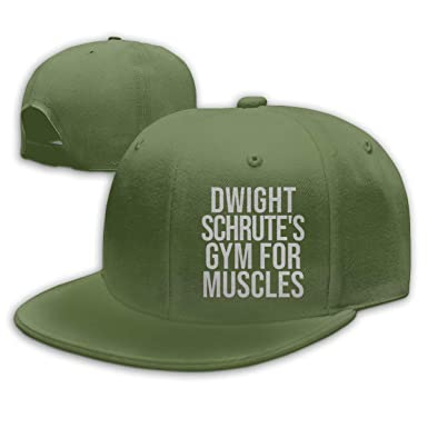 Hip Hop Baseball Cap, Dwight-Schrutes-Gym-Muscles Sun Hats Black ...