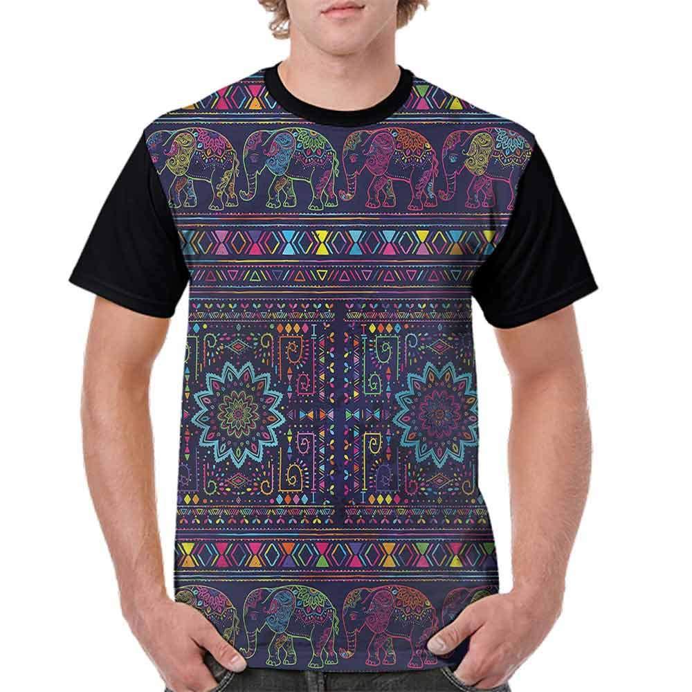 BlountDecor Printed T-Shirt,Middle Eastern Persia Fashion Personality Customization