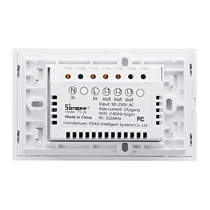 SONOFF T1 - US - 2 C 2 Gangs Smart Touch Interruptor de luz ...