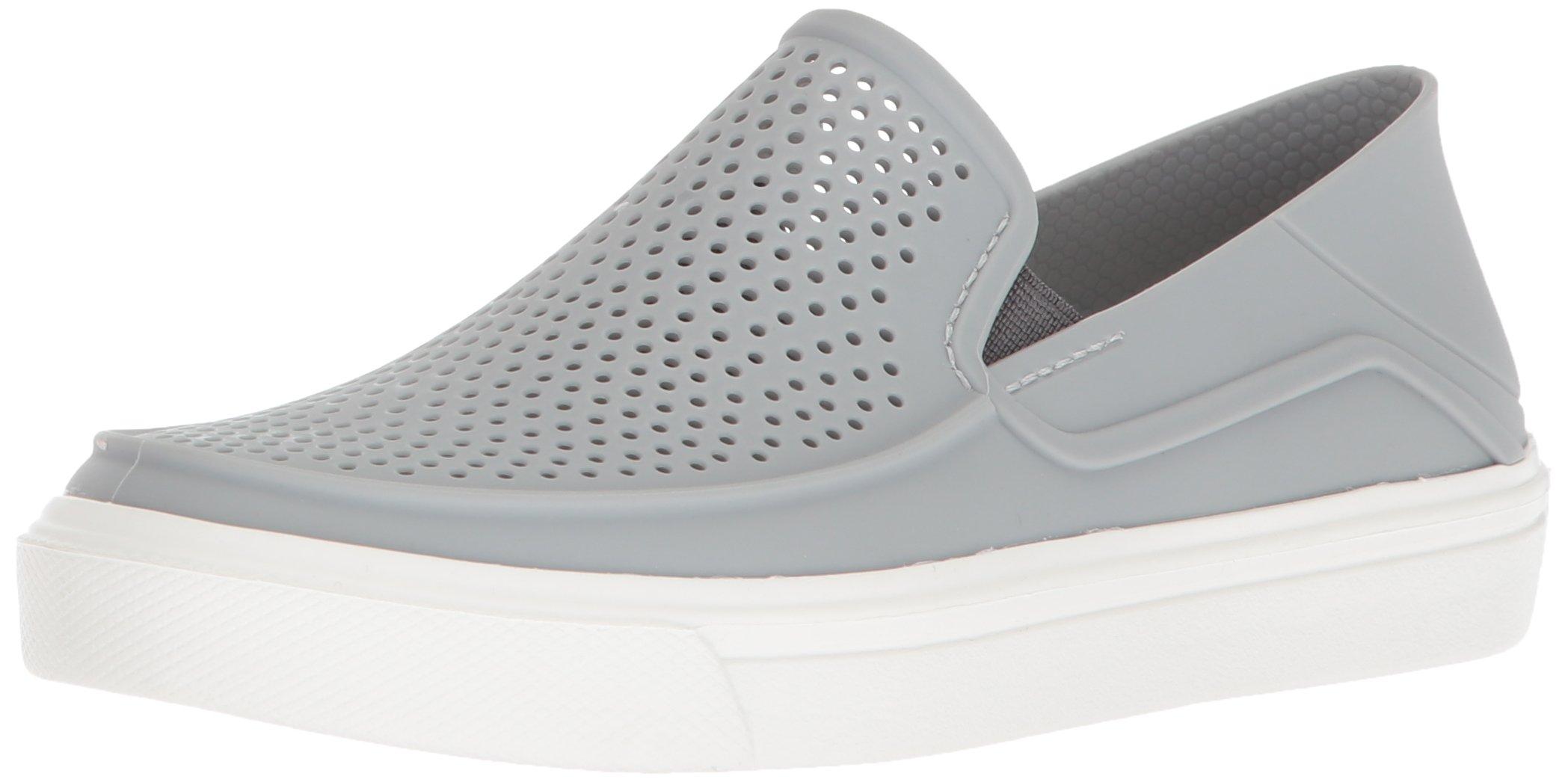 Crocs Kids' Citilane Roka Slip-On, Light Grey/White, 8 M US Toddler