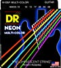 DR Strings NMCE-10 DR NEON Electric Strings, Medium, Multi-Color  DR NEON Multi-Color Strings make learning fast, easy and fun. DR NEON Multi-Color Strings are super bright color-coated strings that sound clear, bright and musical and are an excellent idea for those learning to play or just wanting to add color to ...