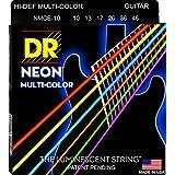 DR Strings NMCE-10 Neon Electric Strings, Medium, Multi-Color