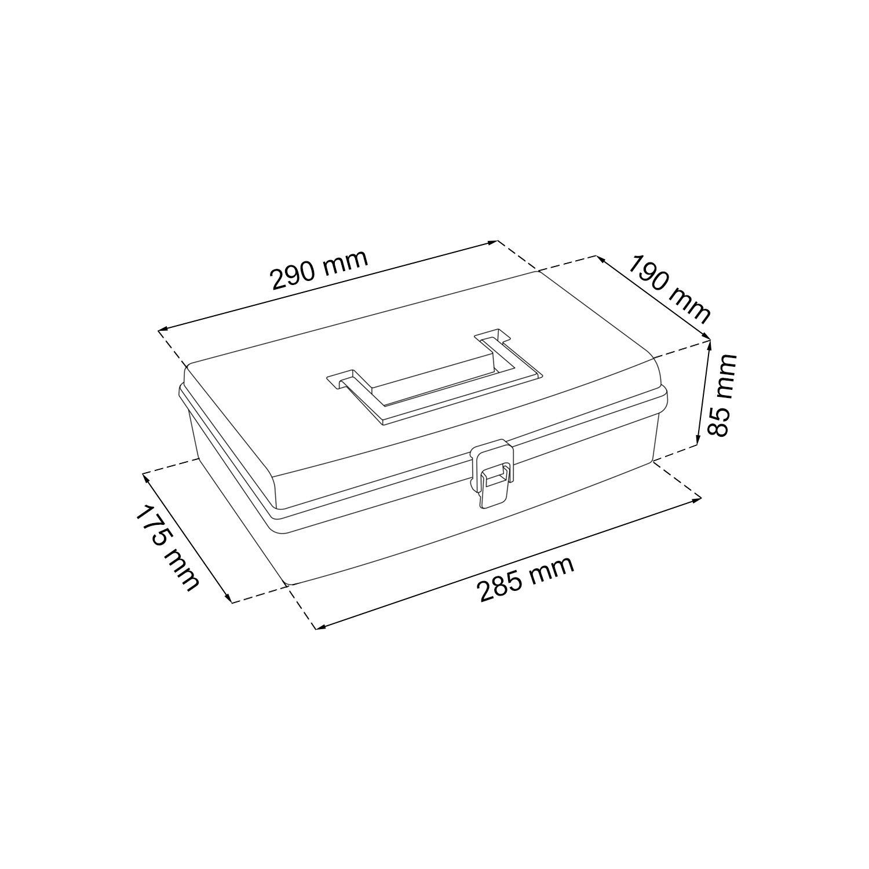 Prosperplast NUN NUN12 Sortimentskasten Organizer Kunststoff Box transparent 5 F/ächer Deckel 12 Sortierung