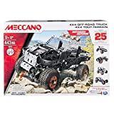 Meccano 4x4 Off-Road Truck  25 Model Building Set, 443 Pieces, For Ages 9+, STEM Contruction Education Toy