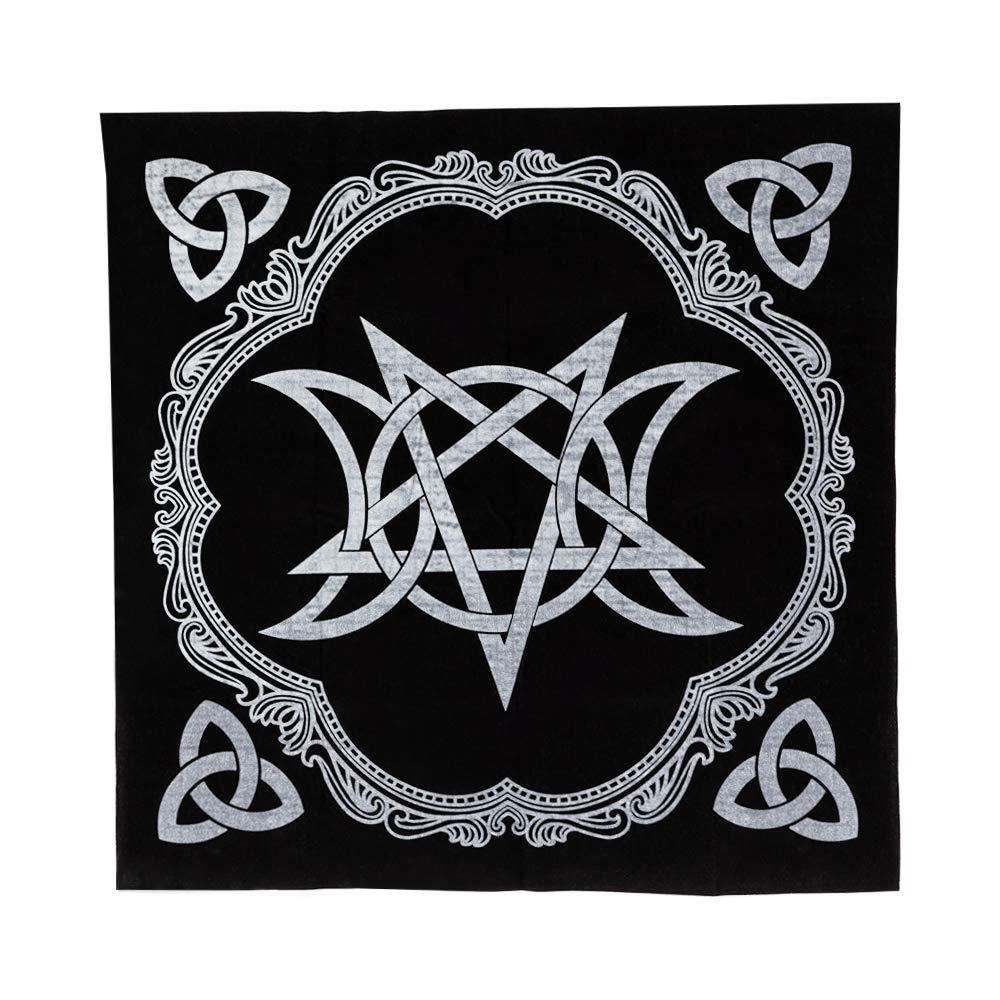 Nappe sp/éciale autel Triple Lune Pentagramme Pentagramme /à Cinq Branches /étoile autel Tarot bomiao