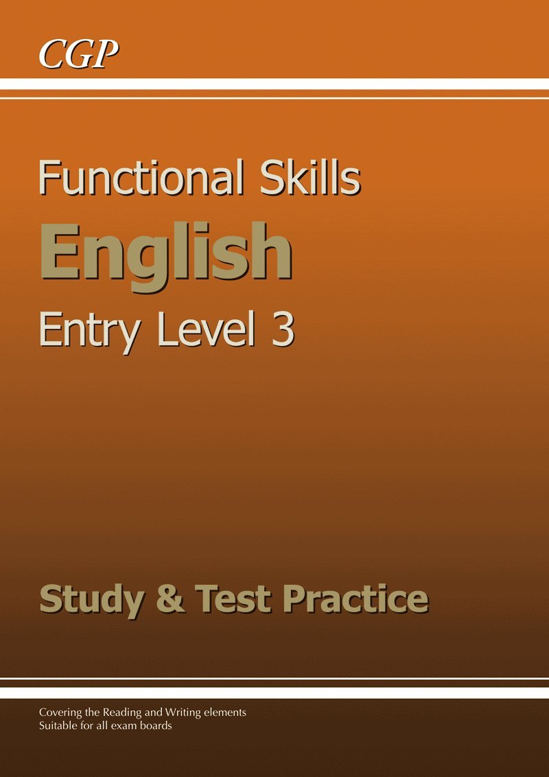 Functional Skills English Entry Level 3 - Study & Test Practice ...