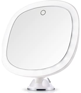 Miusco 7X Magnifying Lighted Makeup Mirror 9 Inch Enlarged Cordless Travel