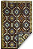 Fab Habitat Lhasa Indoor/Outdoor Rug, Royal Blue & Chocolate Brown, (8′ x 10′) Review