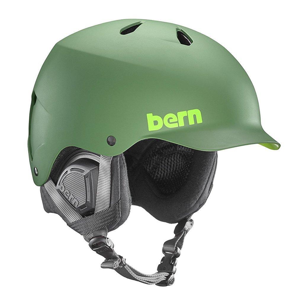 BERN (バーン) WATTS DELUXE ヘルメット メンズ ウィンター モデル HARD HAT アクションスポーツ B07651KZCT Medium|MATTE LEAF GREEN MATTE LEAF GREEN Medium