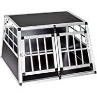 Voltoo Alu Hundebox Transportbox Hundetransportbox Reisebox Autotransportbox Kofferraumbox Gitterbox Hundekäfig für Haustier