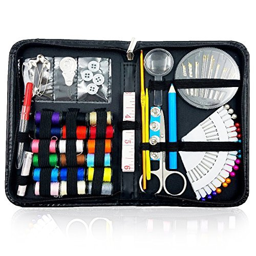 Sewing Kit Over 130 Premium Sewing Supplies for Travel Home Beginners Adults Kids Girls Emergency with Multifunctional Essentials Sewing Accessories  ( pencil color may change )