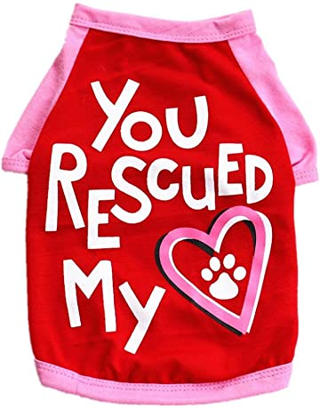 Howstar Pet Shirts You Rescued My Heart Printed T Shirt For Dog Puppy  Summer Clothes Vest 35af16e05