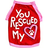 Howstar Pet Shirts You Rescued My Heart Printed T Shirt for Dog Puppy Summer Clothes Vest Sweatshirt Tank Tops