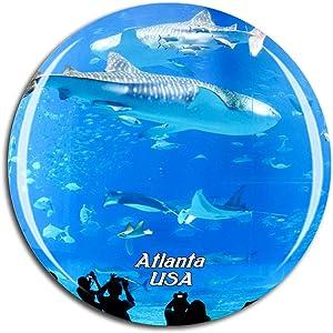 Weekino USA America Georgia Aquarium Atlanta Fridge Magnet 3D Crystal Glass Tourist City Travel Souvenir Collection Gift Strong Refrigerator Sticker