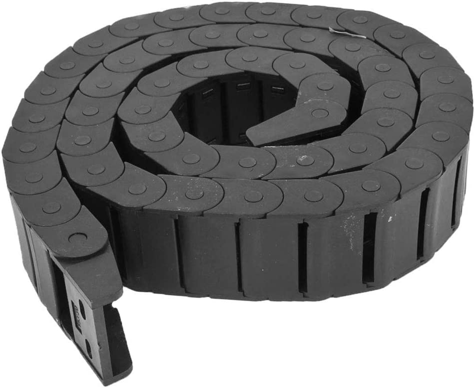 Machine Tool Plastic Towline Drag Chain Black R 1020 R18 Closed HFS