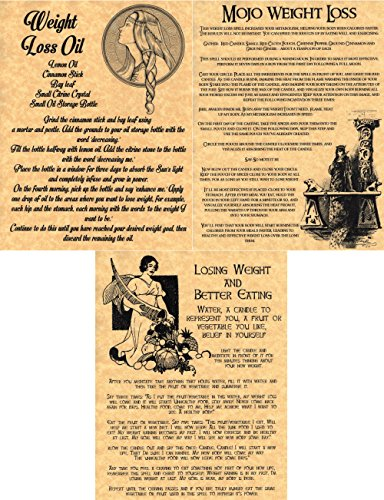 3-weight-loss-book-of-shadows-spells-pages-wicca-witchcraft-pagan-gold