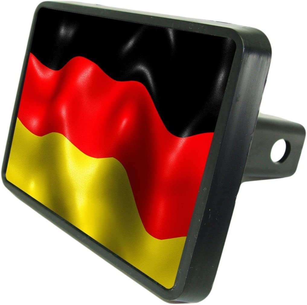 German Flag Custom Hitch Plug for 2 receiver from Redeye Laserworks