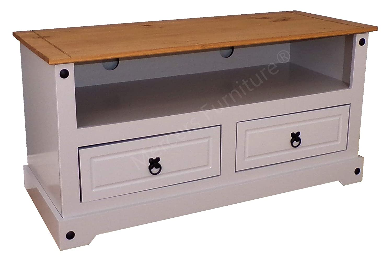 Mercers Furniture Corona Painted Flat Screen TV Unit, Grey, 54 x 108 x 44 cm COGRY91