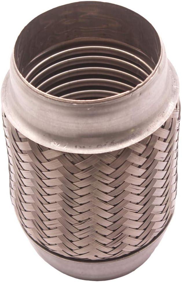 Estilo 2 4 Gazechimp Tubo de Tubo Simple de Reparaci/ón de Junta Flexible de Escape de 10 4cm
