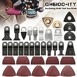 WXLAA Saw Blades Oscillating Multi Tool Accessories Kit for Fein Bosch Makita 100PCS