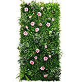 Ping Bu Qing Yun Background Wall - Green Wall Decoration Turf Wall Simulation Flower Wall Background Wall Greening (4 Style Selection) Flower Wall Decoration (Color : C)