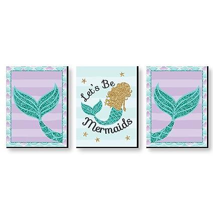 4a59129f4 Amazon.com  Let s Be Mermaids - Baby Girl Nursery Wall Art