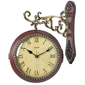 Boxer Briefs European-Style Double-Wall Clock Mute Clock Modern Quartz Watch Hanging Table