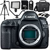 Canon EOS 5D Mark IV DSLR Camera (Body Only) 64GB Bundle 9PC Accessory Kit - Includes 64GB Memory Card + MORE