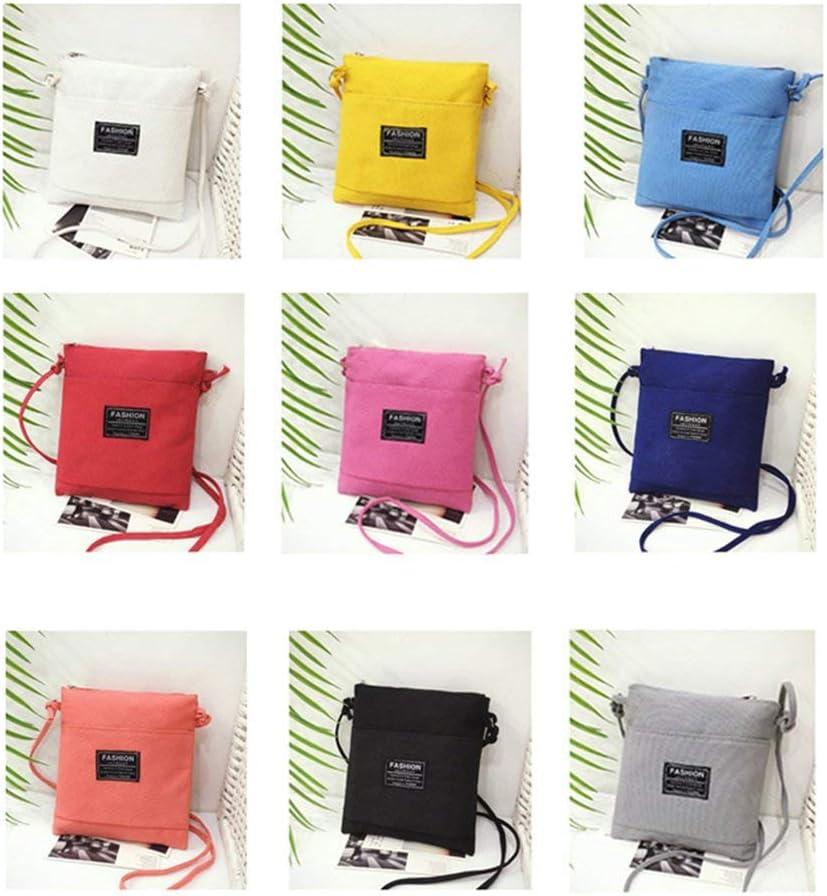 TAOHOU Mini Bolsa móvil de Hombro Blanco del Bolso Bolsa de