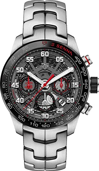 7bdb138fd9a4 Tag Heuer Carrera Senna CBG2013.BA0657 - Reloj de Pulsera para Hombre   Amazon.es  Relojes