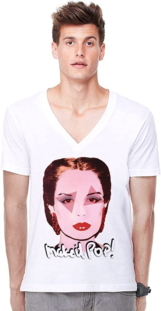 Carolina Herrera Fashion Designer Deep V-Neck T-Shirt ...