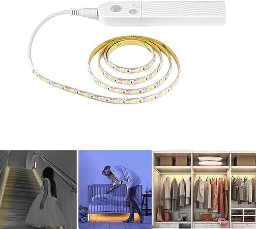 Elegante Tira de luz LED 3M con Sensor de Movimiento para Armario, Armario, escaleras, Pasillo, decoración: Amazon.es: Hogar